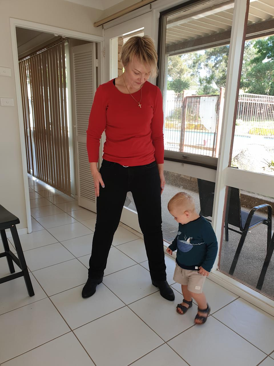 The new mum now has the energy to keep up with her 22-month-old son. Photo: supplied.