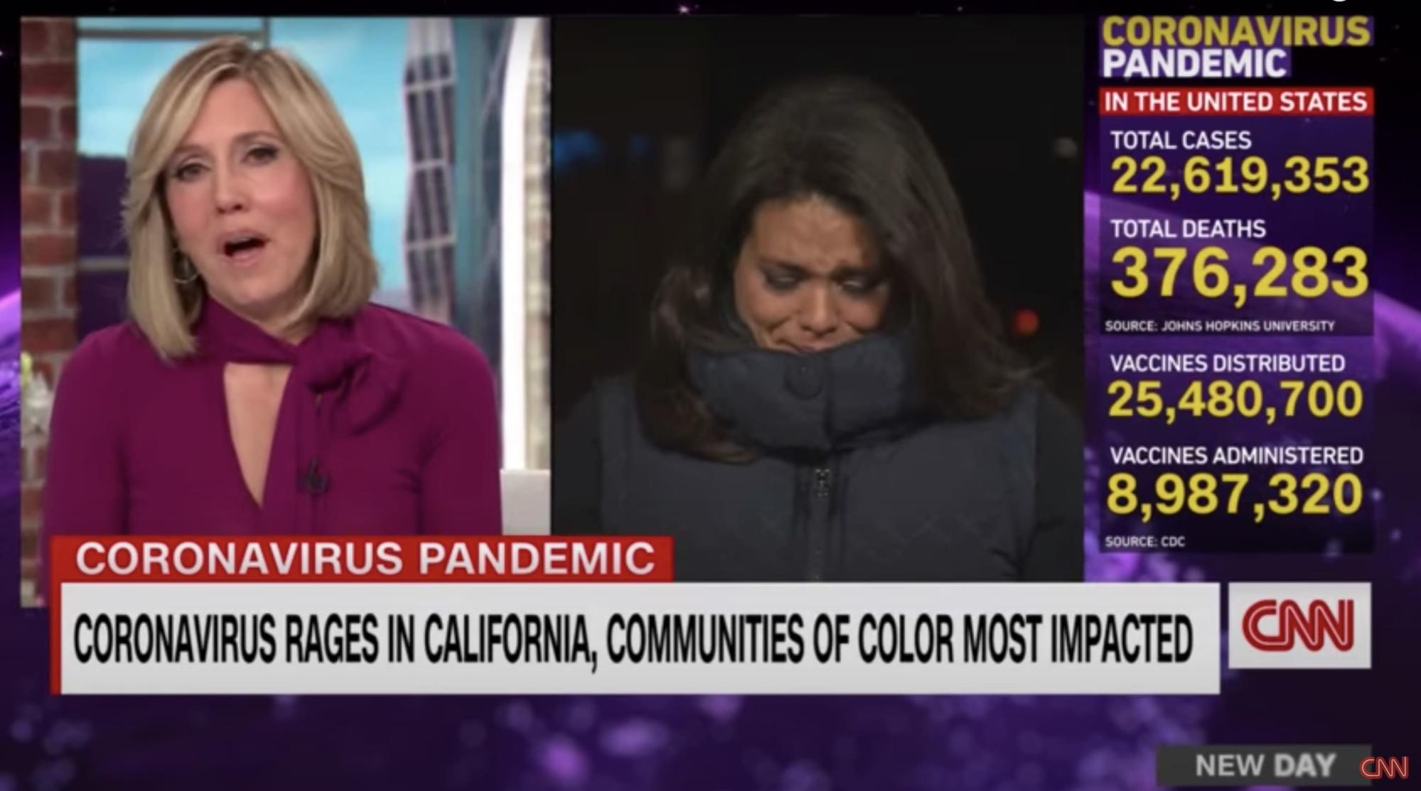 "CNN Reporter Sara Sidner Breaks Into Tears During Live Report On Covid Deaths: ""It's Just Not OK"""