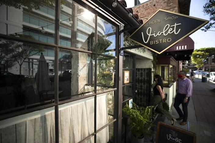 WESTWOOD, CA - JUNE 12: Violet, a Westwood restaurant and cooking school is preparing to reopen fully on June 15. Photographed on Saturday, June 12, 2021 in Westwood, CA. (Myung J. Chun / Los Angeles Times)