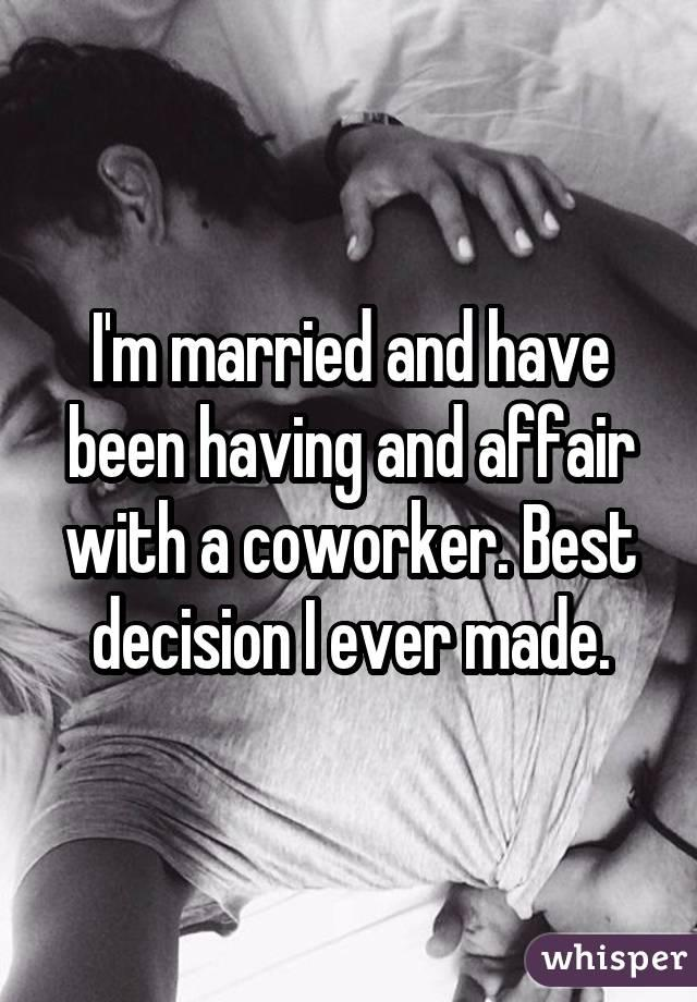Sleeping with a married coworker