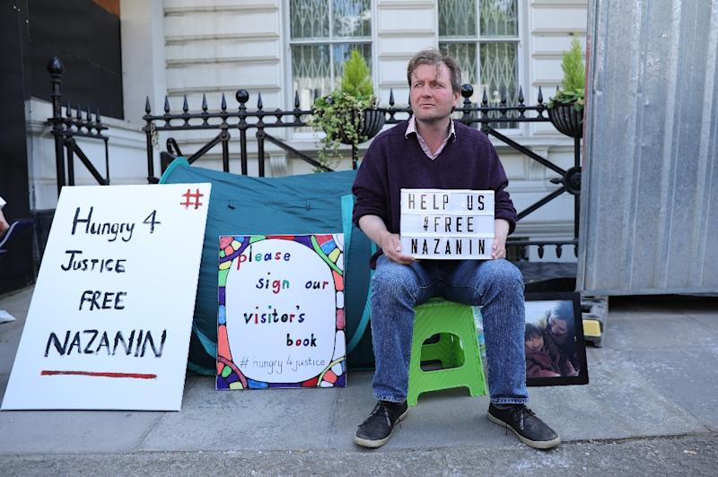 Ratcliffe, husband of British-Iranian woman Nazanin Zaghari-Ratcliffe who is imprisoned in Iran, has been on hunger strike for 10 days outside the Iranian embassy in London