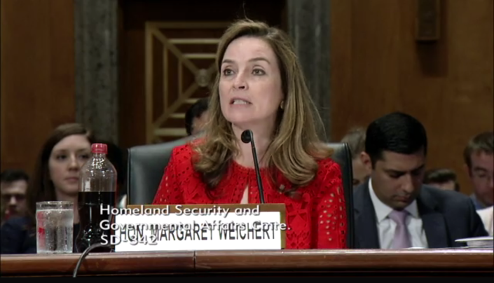Margaret Weichert testifies before the Senate Committee on Homeland Security and Governmental Affairs on Wednesday. (Photo: U.S. Senate)
