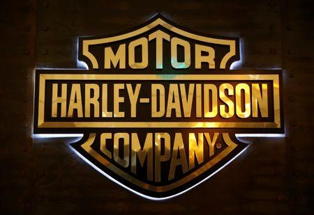 A Harley-Davidson signage is displayed in their head office in Singapore