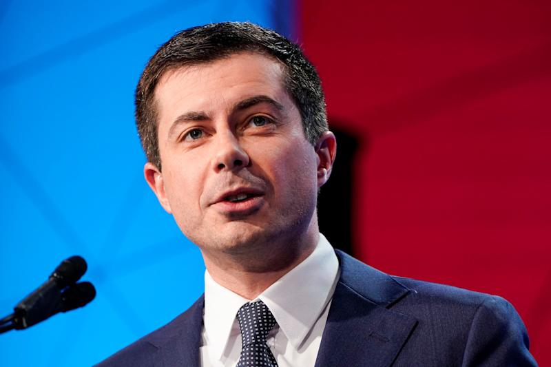 Democratic presidential candidate former South Bend, Indiana mayor Pete Buttigieg speaks to the U.S. Conference of Mayors 88th Winter meeting in Washington, U.S., January 23, 2020. REUTERS/Joshua Roberts