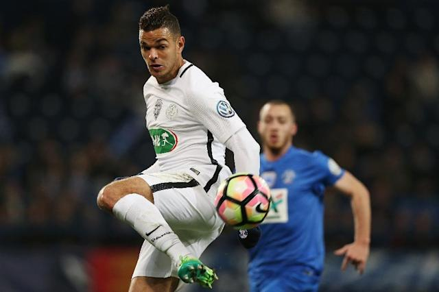 Paris Saint-Germain's forward Hatem Ben Arfa controls the ball during the French Cup football match between Avranches and Paris Saint-Germain at Michel D'Ornano Stadium in Caen on April 5, 2017 (AFP Photo/CHARLY TRIBALLEAU)