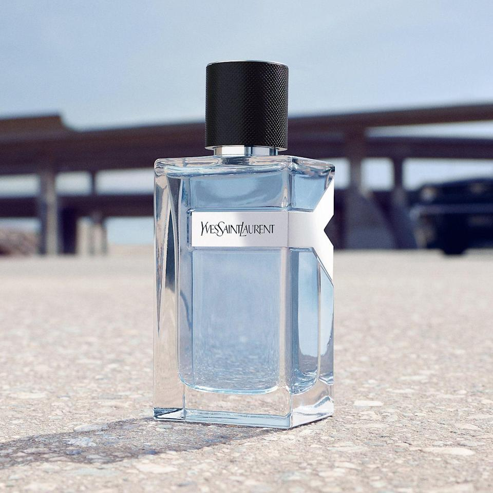 """<p><strong>Yves Saint Laurent</strong></p><p>sephora.com</p><p><strong>$97.00</strong></p><p><a href=""""https://go.redirectingat.com?id=74968X1596630&url=https%3A%2F%2Fwww.sephora.com%2Fproduct%2Fy-eau-de-toilette-P422354&sref=https%3A%2F%2Fwww.goodhousekeeping.com%2Fholidays%2Ffathers-day%2Fg32369331%2Ffathers-day-gifts-from-wife%2F"""" rel=""""nofollow noopener"""" target=""""_blank"""" data-ylk=""""slk:Shop Now"""" class=""""link rapid-noclick-resp"""">Shop Now</a></p><p>Yves Saint Laurent describes this cologne as """"a balance between freshness and strength,"""" which just so happens to match your husband perfectly. With a unique blend of citrus and woodsy aromas, its timelessness makes it appropriate for all seasons and occasions. </p>"""