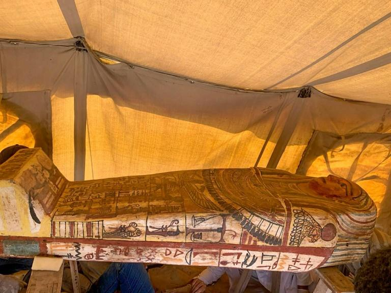 Egypt discovers 14 ancient sarcophagi at Saqqara