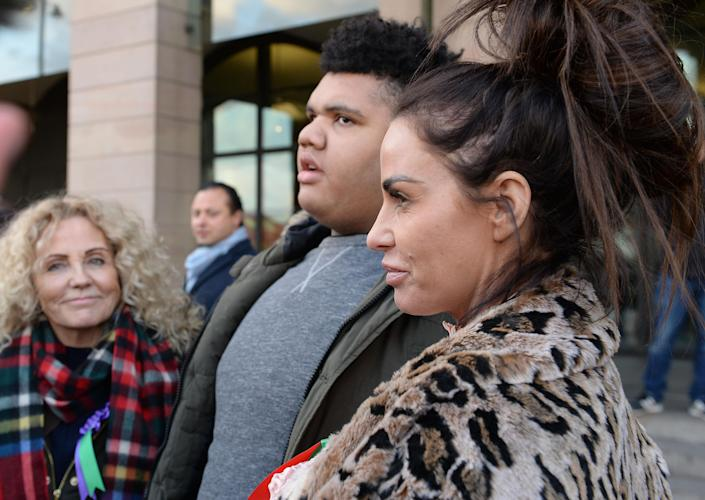 Katie Price's eldest son Harvey is in intensive care. (PA)