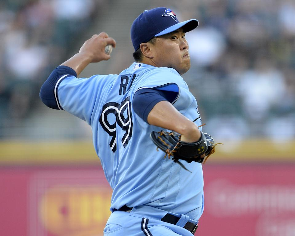 Hyun Jin Ryu ,柳賢振。 (Photo by Ron Vesely/Getty Images)