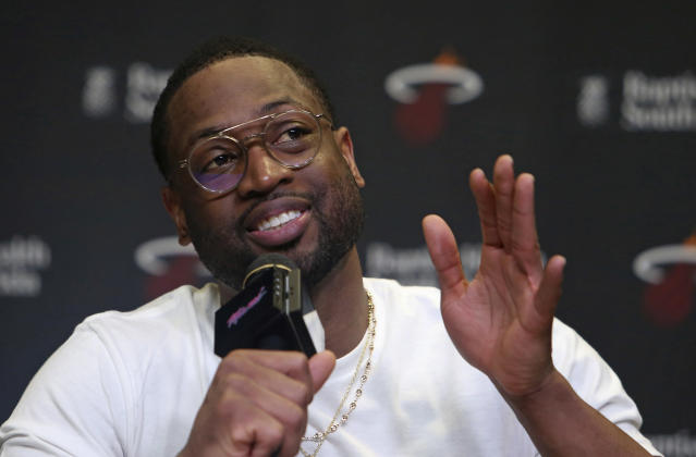 Dwyane Wade surprised some players in New York City this week when he joined their pickup game at Chelsea Piers. (AP)