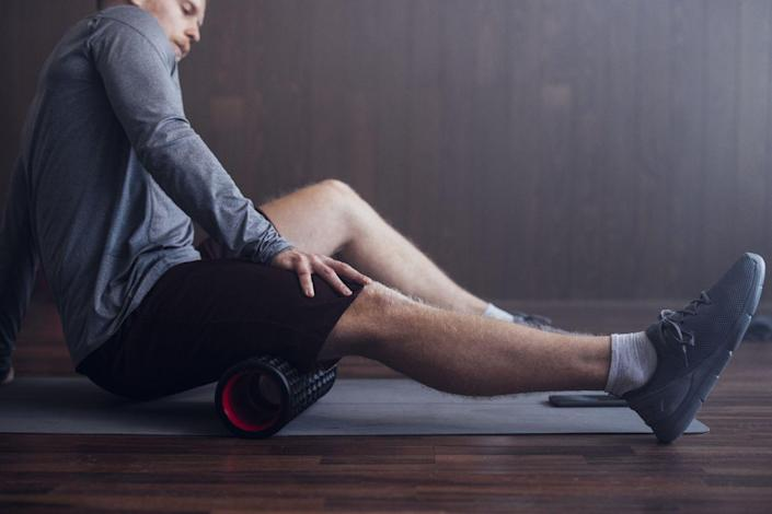 """<p>We can debate the merits of <a href=""""https://www.bicycling.com/training/a27683173/best-stretches/"""" rel=""""nofollow noopener"""" target=""""_blank"""" data-ylk=""""slk:stretching for cyclists"""" class=""""link rapid-noclick-resp"""">stretching for cyclists</a> 'til we're blue in the face, but it's indisputable that if you have poor range of motion, your pedaling may end up causing pain as your kneecap is unable to track in a healthy fashion. Stretching and <a href=""""https://www.bicycling.com/training/a20030223/foam-rolling-moves-for-every-cycling-muscle/"""" rel=""""nofollow noopener"""" target=""""_blank"""" data-ylk=""""slk:foam rolling"""" class=""""link rapid-noclick-resp"""">foam rolling</a> all your major leg muscles can help keep pain at bay. Regular massage will also help break up adhesions and prevent muscles from getting knotted and """"stuck.""""</p>"""