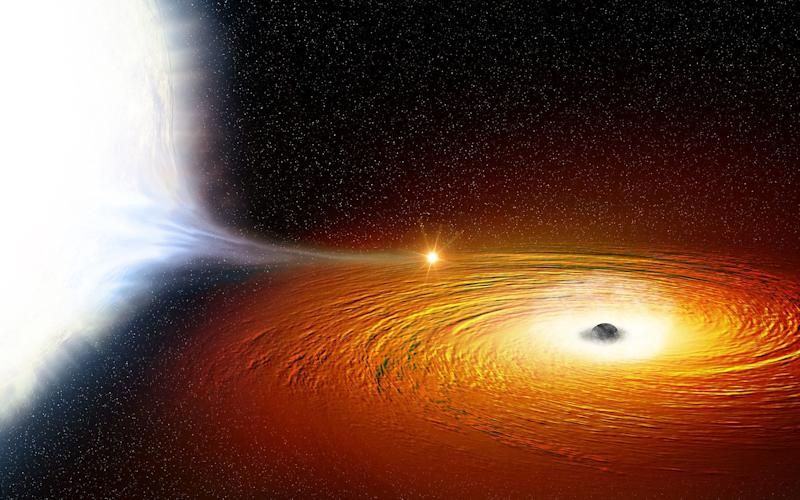 X9 binary system with its star and black hole - Nasa