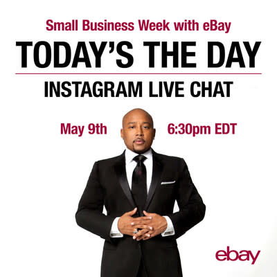"""Join """"The People's Shark,"""" Daymond John, for a special virtual conference to offer small business owners tips, tricks and advice for success. On May 9 at 6:30p.m. EDT, John will tap his experience as a businessman and investor by answering questions via Instagram Live that focus on empowerment and expansion through ecommerce."""