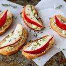 """<p>This crostini is full of fall flavors—fresh pears, honey, and thyme—plus it has a tangy cheese to pull it all together. </p><p><a href=""""https://www.thepioneerwoman.com/food-cooking/recipes/a79973/pear-and-blue-cheese-crostini/"""" rel=""""nofollow noopener"""" target=""""_blank"""" data-ylk=""""slk:Get the recipe."""" class=""""link rapid-noclick-resp""""><strong>Get the recipe.</strong></a></p>"""