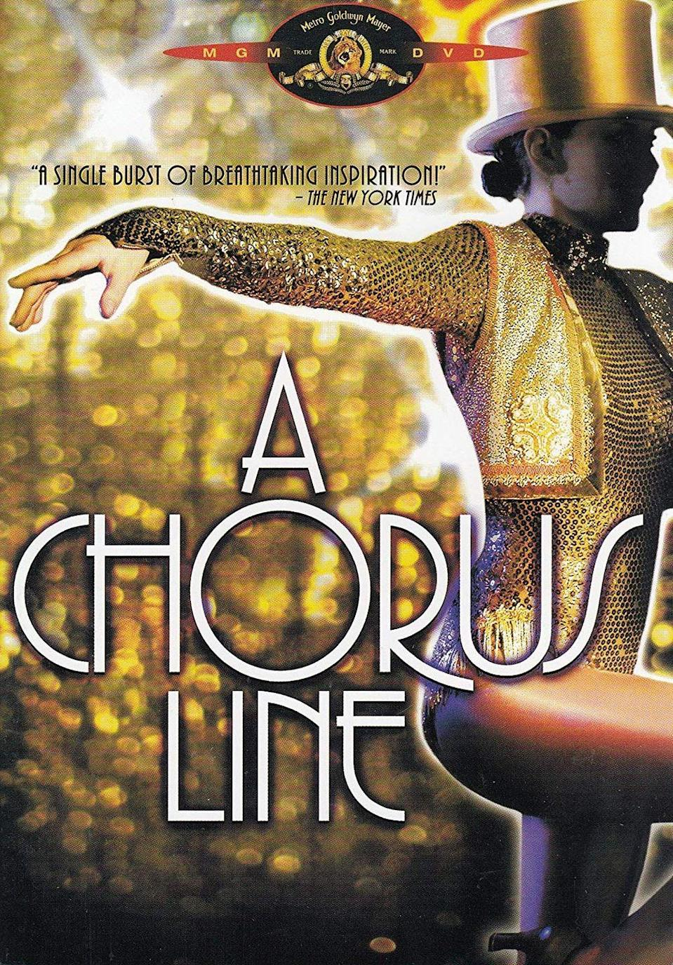 """<p>Musicals about life in show business are a dime a dozen, but this one is a singular sensation. (Sorry, had to do it!) The story explores the struggles of dancers during the audition process. It's a must-see for anyone looking to get their feet wet in the world of movie musicals.</p><p><a class=""""link rapid-noclick-resp"""" href=""""https://www.amazon.com/Chorus-Line-Michael-Blevins/dp/B002XZOZQA/ref=sr_1_1?tag=syn-yahoo-20&ascsubtag=%5Bartid%7C10072.g.27734413%5Bsrc%7Cyahoo-us"""" rel=""""nofollow noopener"""" target=""""_blank"""" data-ylk=""""slk:WATCH NOW"""">WATCH NOW</a></p>"""