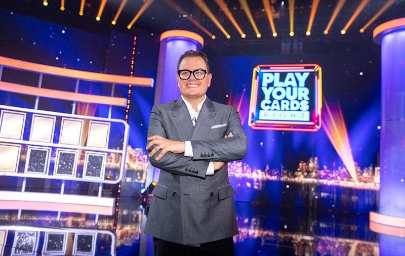 Carr is back on our screens with Epic Gameshow (ITV)