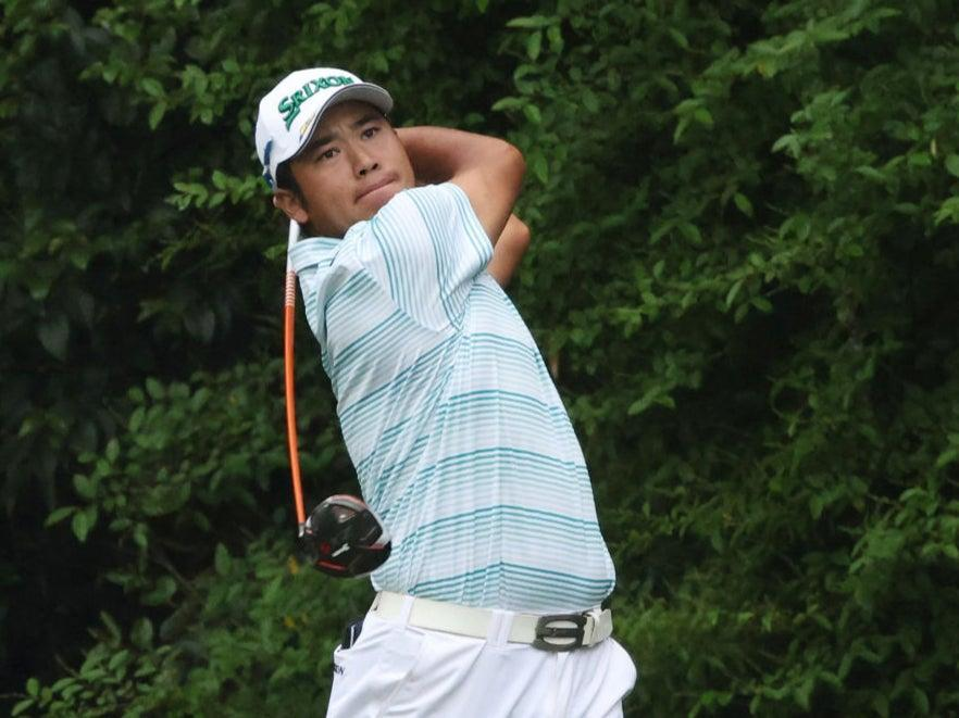 <p>Hideki Matsuyama leads by four shots</p> (Getty Images)