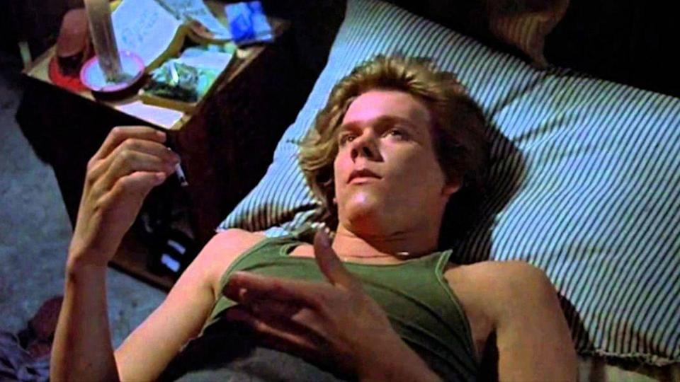 <p>This is what Kevin Bacon looked like at the age of 22. This is also what he looked like moments before his character, Jack, died after being pierced in the throat by Jason's mother Pamela. </p>