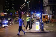 """<p>Emergency personnel on London Bridge as police are dealing with a """"major incident"""" at London Bridge. (Press Association) </p>"""