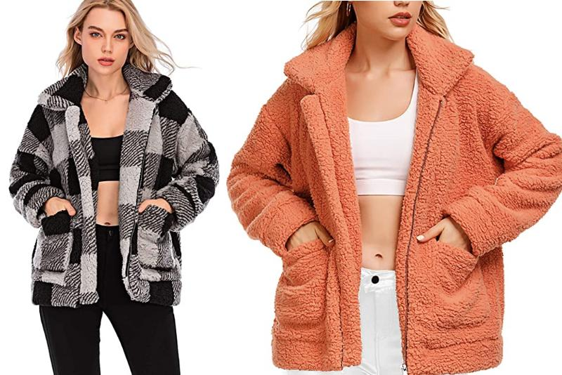 Comeon Women's Faux Shearling Coat is on Amazon Canada starting at just $35.