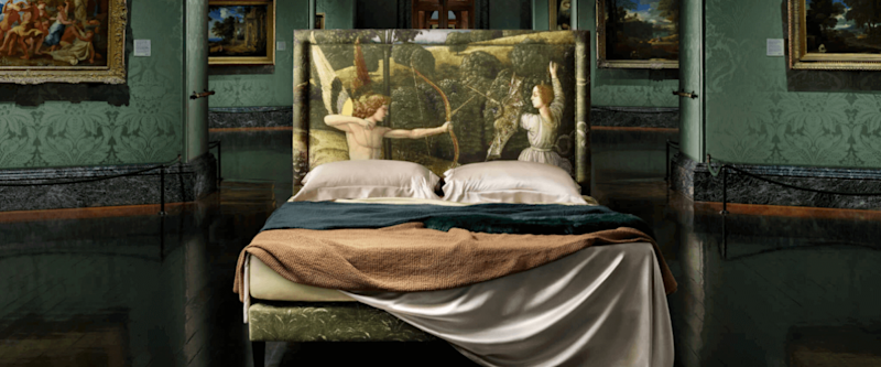 A Savoir bed in collaboration with the National Gallery