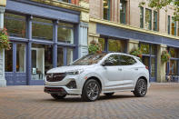 This undated photo provided by General Motors shows the 2021 Buick Encore GX, a small SUV that offered an average savings of about 10% in August. (General Motors via AP)