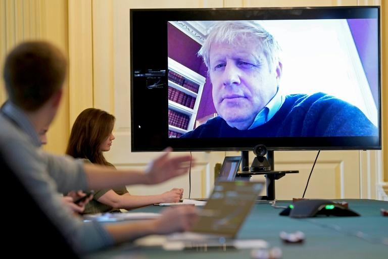 Boris Johnson remotely chaired a coronavirus meeting by video link