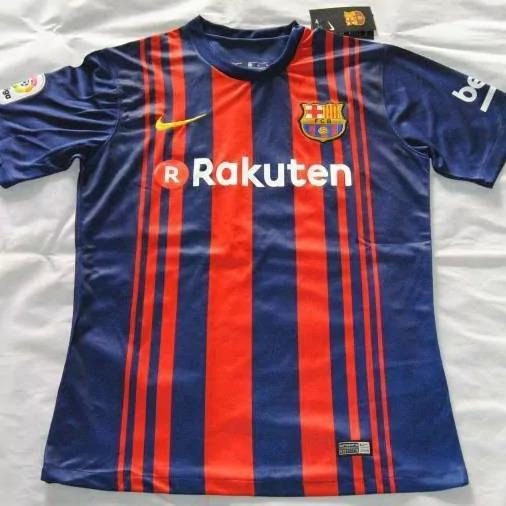 <p>Barcelona's new kit with Rakuten could look something like this </p>