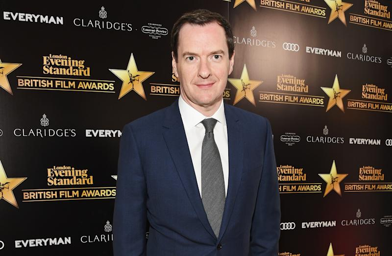 LONDON, ENGLAND - FEBRUARY 08: George Osborne, editor of the London Evening Standard, arrives at the London Evening Standard British Film Awards 2018 at Claridge's Hotel on February 8, 2018 in London, England. (Photo by David M. Benett/Dave Benett/Getty Images)