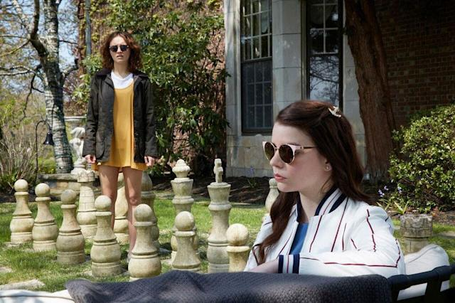 """Olivia Cooke and Anya Taylor-Joy in """"Thoroughbreds."""""""