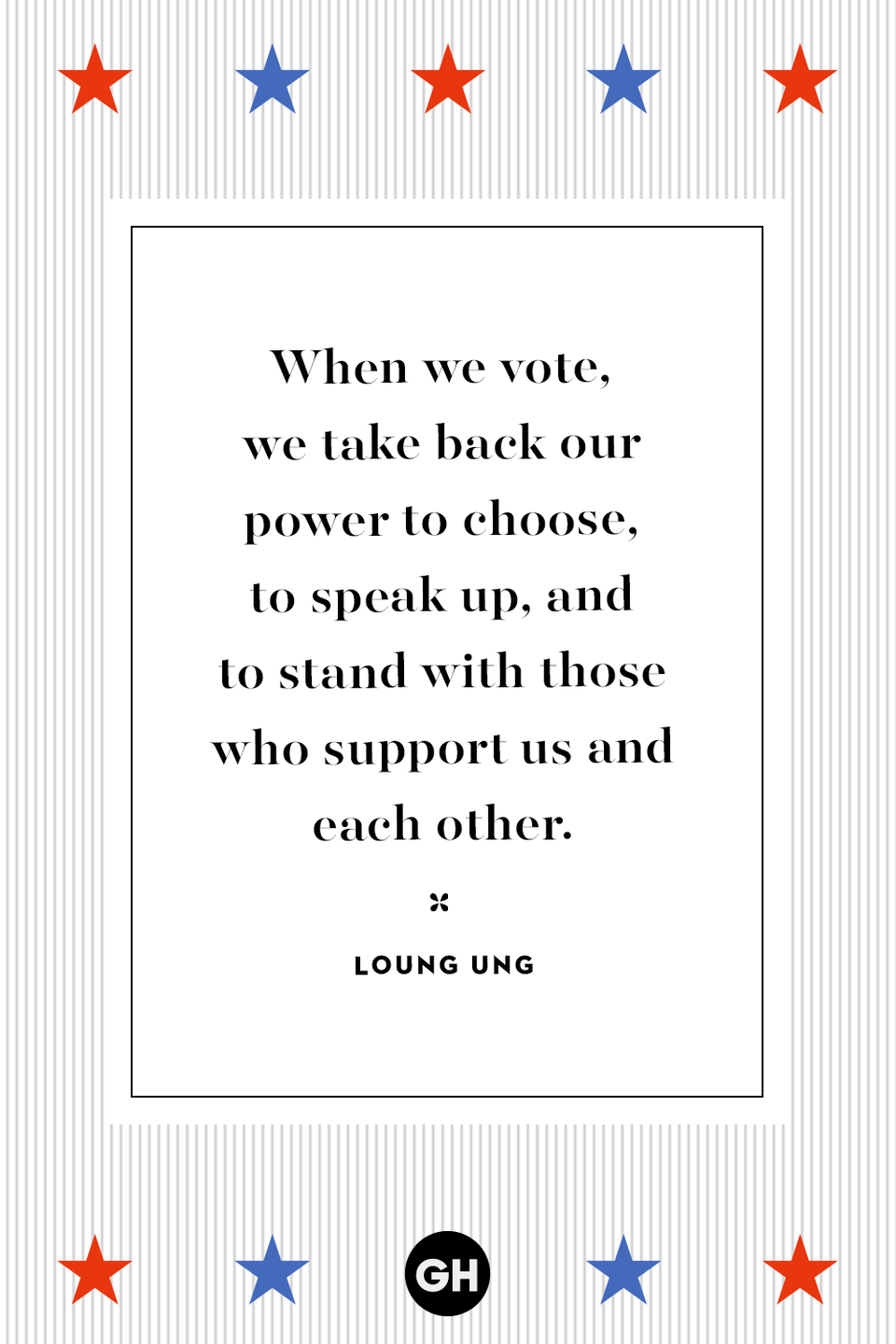 <p>When we vote, we take back our power to choose, to speak up, and to stand with those who support us and each other.</p>