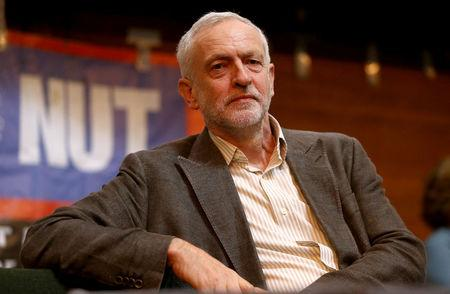 Britain's Opposition Labour Party leader Jeremy Corbyn attends a Stand Up To Racism rally in London