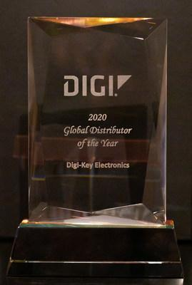 Digi-Key Electronics was named Global Distributor of the Year by Digi International for the fourth year in a row
