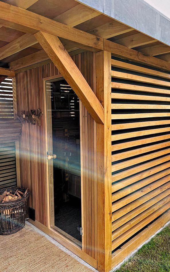 Alex Alstadt, the owner of this sauna, built it himself for less than £5,000 - Luke White
