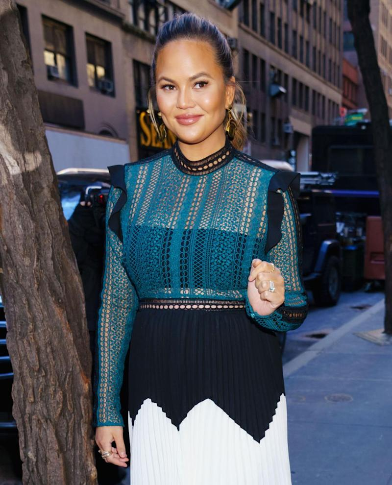 Chrissy Teigen shared her insight to the interview on Twitter. Source: Getty