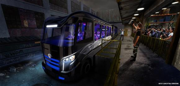 Concept art of the vehicle for Fast and Furious ride.