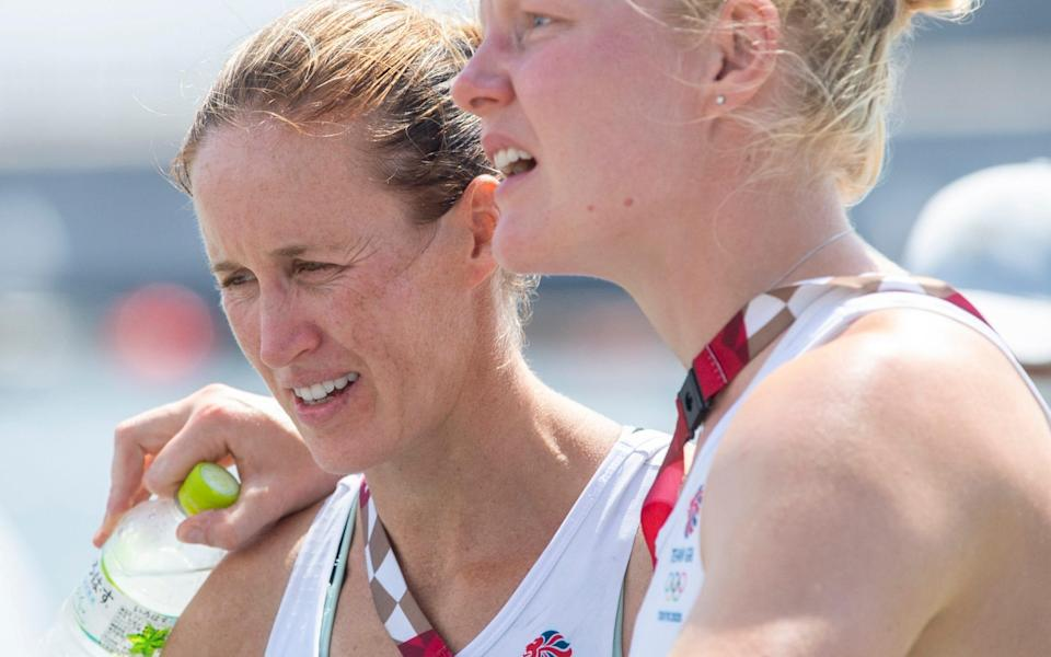 Helen Glover and Polly Swann reflect on their efforts in Tokyo - Paul Grover