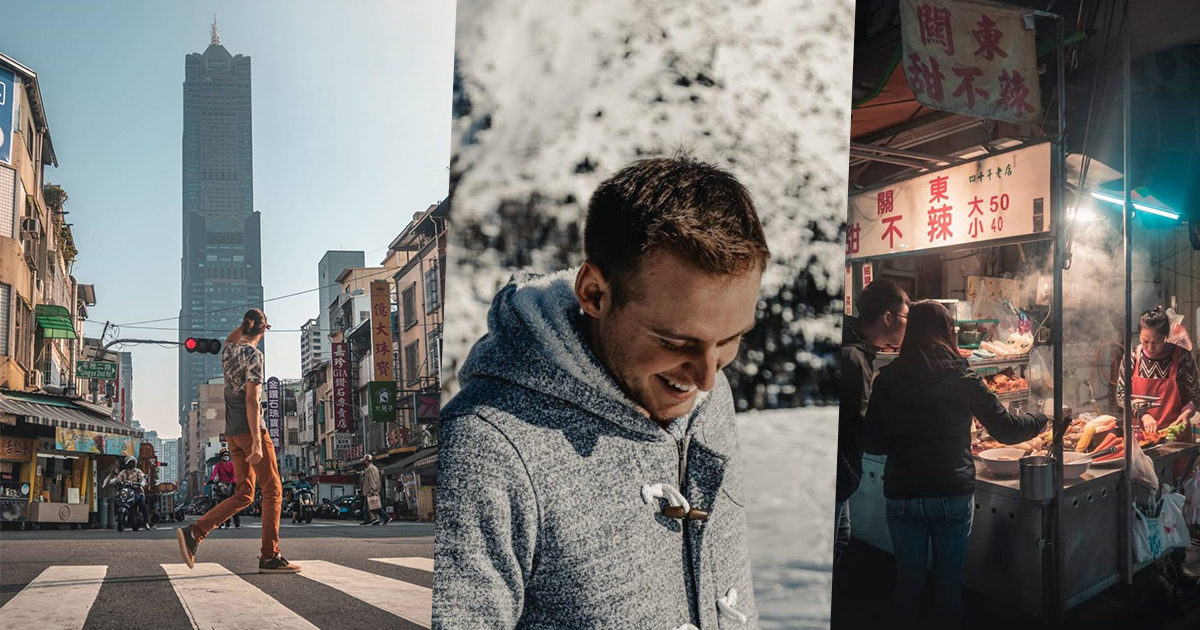 <p>This photo collage shows the work of Pierre BK, a 27-year-old travel blogger from France who recently visited Taiwan. (Courtesy of of Pierre BK)</p>