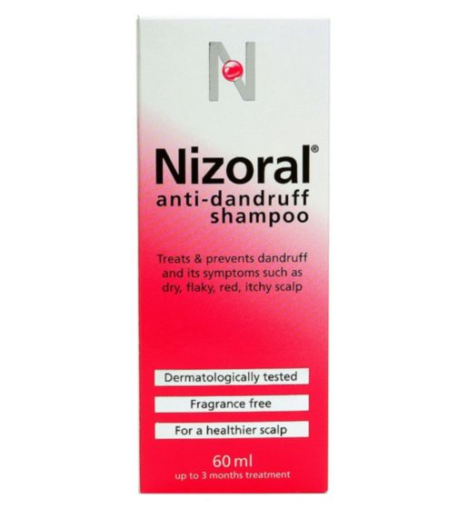 """<h2>Nizoral Anti Dandruff Shampoo</h2><br>Dr. Sadick recommends shampooing with Nizoral if you experience regular flaking. """"This is a good option because it contains ketoconazole, which is anti-fungal,"""" he says. """"Some anti-dandruff shampoos can be slightly harsh on hair, so always use a moisturising conditioner that doesn't leave behind residue after.""""<br><br><strong>nizoral</strong> Anti-dandruff Shampoo, $, available at <a href=""""https://www.boots.com/nizoral-anti-dandruff-shampoo-60ml-10025089"""" rel=""""nofollow noopener"""" target=""""_blank"""" data-ylk=""""slk:Boots"""" class=""""link rapid-noclick-resp"""">Boots</a>"""