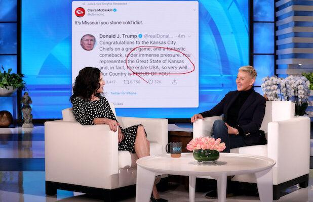 Julia Louis-Dreyfus Says Trump's Super Bowl Tweet Flub Made Her Miss Doing 'Veep' (Video)