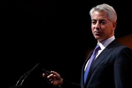 FILE PHOTO: William 'Bill' Ackman, CEO and Portfolio Manager of Pershing Square Capital Management, speaks during the Sohn Investment Conference in New York City