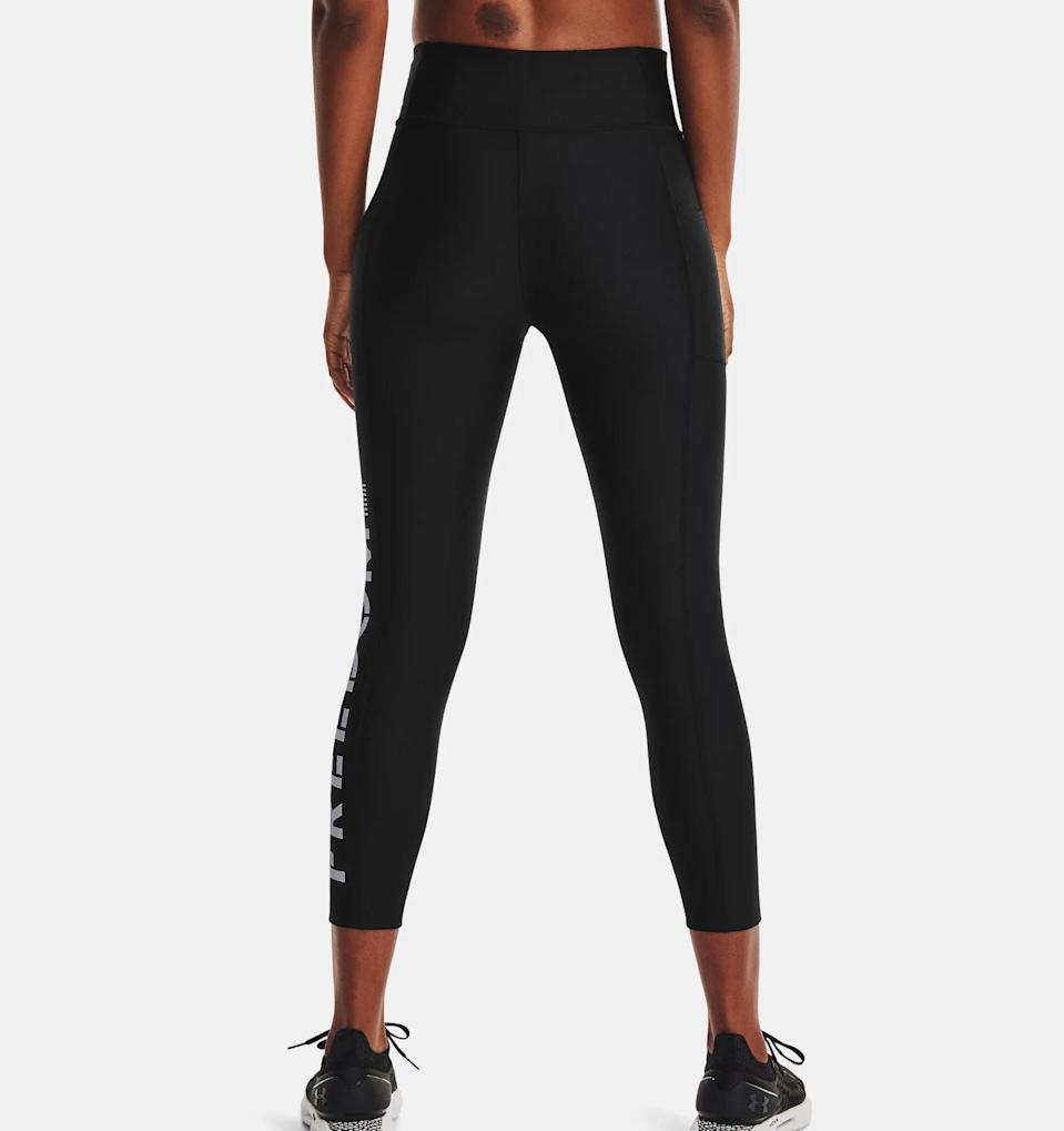 <p>There's nothing worse than your leggings slipping down in the middle of yoga (or any workout, for that matter), but thankfully these <span>UA Freedom Hi-Rise Ankle Leggings</span> ($45) are all about coverage and support. Downward dogs and scorpion stretches are no match for the four-way stretch fabric and high-rise waist.</p>