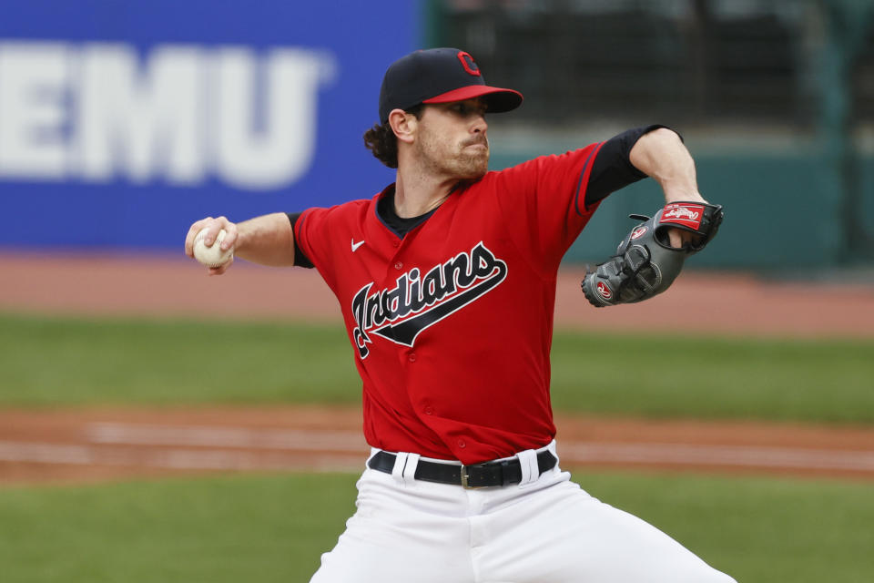 Shane Bieber is the fifth Cleveland Indians pitcher to win the AL Cy Young award. (Photo by Ron Schwane/Getty Images)