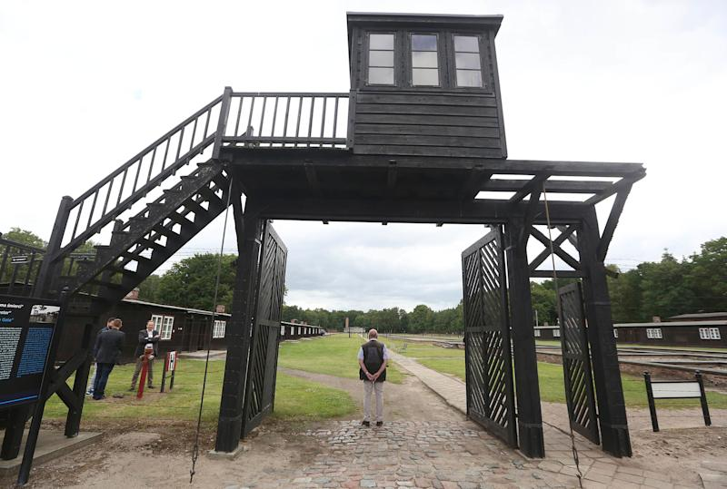 The wooden main gate leading into the former Stutthof Concentration Camp in Poland on July 18, 2017. Eva Gelbman was deported there in August 1944. (Photo: Czarek Sokolowski/ASSOCIATED PRESS)