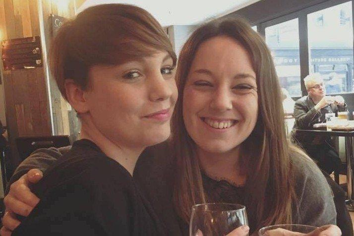 Katie (left) and a friend: the 31-year-old said her family and friends had been