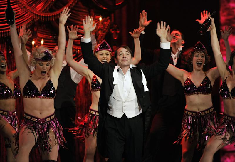"Matthew Broderick and the cast of ""Nice Work If You Can Get It"" perform at the 66th Annual Tony Awards on Sunday June 10, 2012, in New York. (Photo by Charles Sykes /Invision/AP)"
