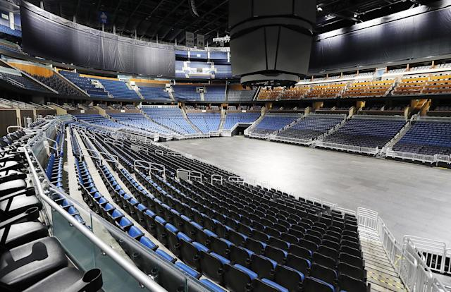 The seats will remain empty at the Amway Center in Orlando. (Stephen M. Dowell/Orlando Sentinel/Tribune News Service via Getty Images)