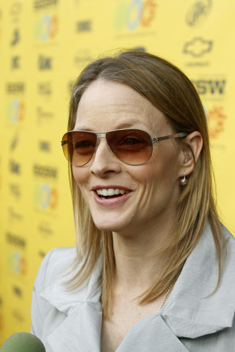 Jodie Foster walks the red carpet before a screening of her new film 'The Beaver' at the SXSW Film Festival in Austin, Texas on Wednesday, March 16, 2011. Foster directed and stars in the movie.(AP Photo/JackPlunkett)