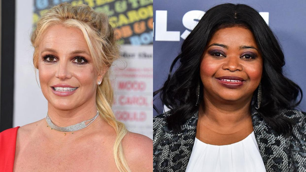 Britney Spears and Octavia Spencer (Getty Images)