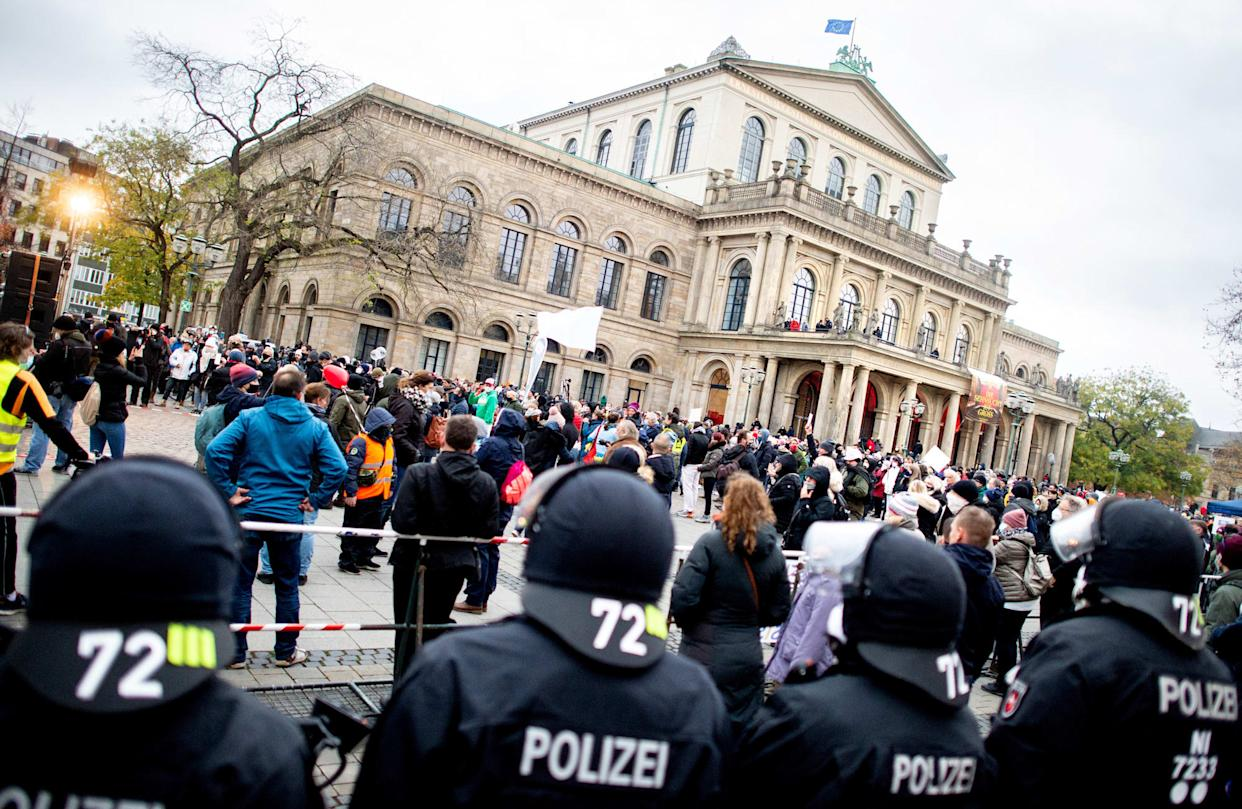 Demonstration against corona policy - Hannover
